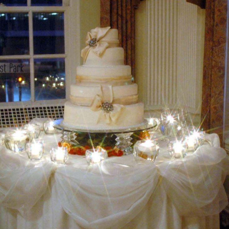 how to decorate wedding cake table wedding cake table decorations with candles and votive