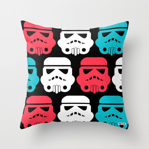Star wars pillow cover - Decorative throw pillow - Stormtrooper- kids baby room decor - boys room decor - teenage bedroom - Modern pillow by thegretest on Etsy https://www.etsy.com/listing/162251025/star-wars-pillow-cover-decorative-throw