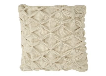 Trellis natural knit cushion Laura Ashley