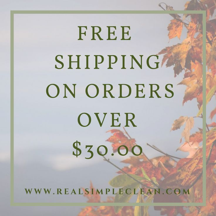 Now offering free shipping on orders over $30.00!