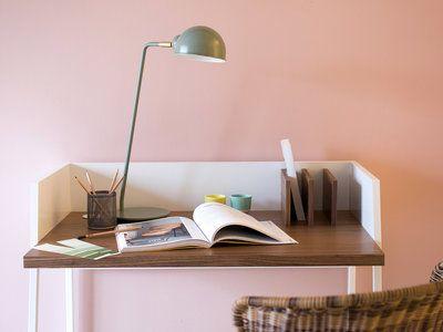 Lampe de bureau en métal vert avec finition laiton 60cm Stay