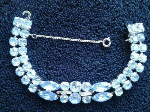 Vintage Eisenberg Ice Light Blue Bracelet Patent 3077089 Ebay
