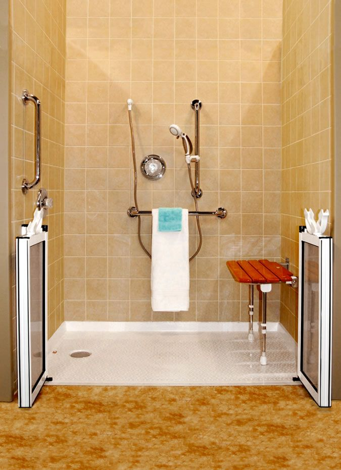117 best images about accessible home designs on pinterest for Handicapped accessible bathroom plans