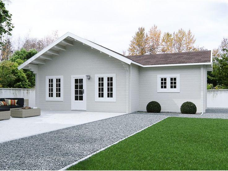 Blokhutten/Veranda's :: Weekendhuizen :: Blokhut Topcottage Irtisj - Lek Tuinmaterialen. XXL L-vormig tuinhuis, uitgevoerd met een enkele 3/4 glasdeur voorzien van dubbelglas en paneelisolatie, 5 draai-kiepramen en 1 uitzetraam allen voorzien van dubbel glas en een binnendeur. Binnen bevinden zich meerdere ruimtes om te gebruiken als slaapkamer, keuken en badkamer