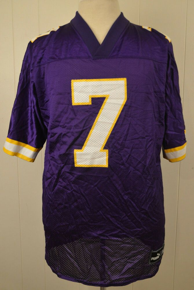 sports shoes 46d58 f1ba8 Puma Minnesota Vikings Jersey#7 Randall Cunningham NFL Large ...