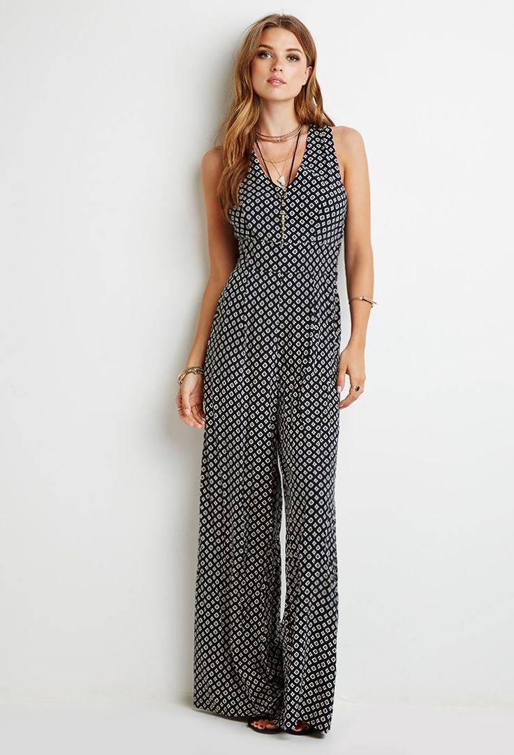 Abstract Diamond Print Jumpsuit | Forever 21 - 2000130888