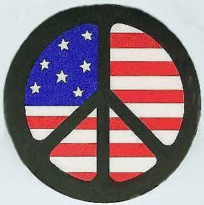 PEACE FLAG BUTTON AMERICAN PEACE FLAG PINBACK BADGE #patch