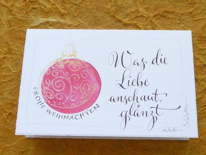 Weihnachtskarten - Liebe - ein kostbares Geschenk - ein Designerstück von Schreibstubn bei DaWanda