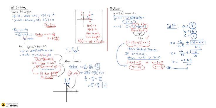 Ziteboard mathematics whiteboard