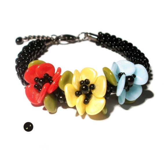 Tutorial for kumihimo bracelet with Rose Petals by LaBrujaPL