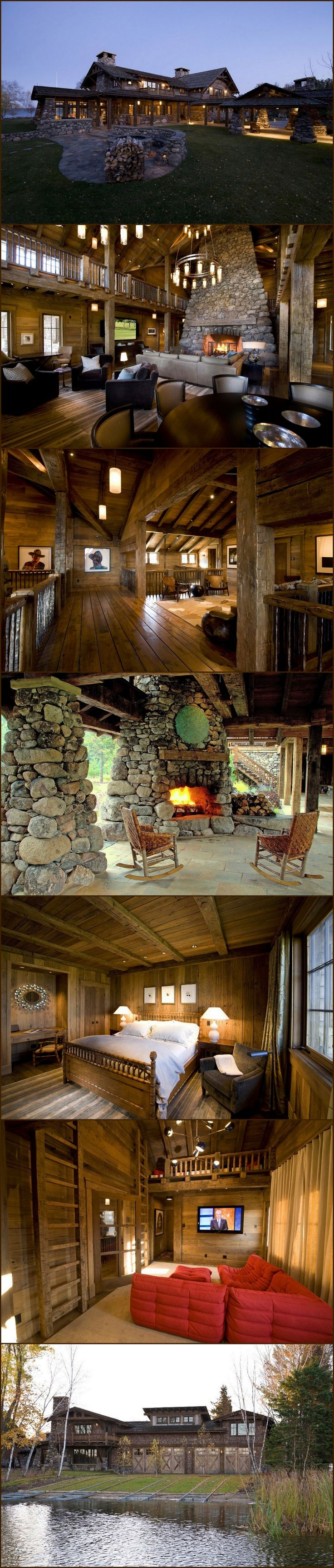 Minnesota Lake Lodge - I was apart of the building of this house. It was an awesome experience. The fireplace is the size of a small car!
