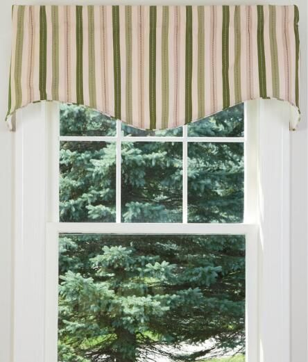 Montego Stripe Lined Scalloped Valance: 1000+ Ideas About Country Curtains On Pinterest