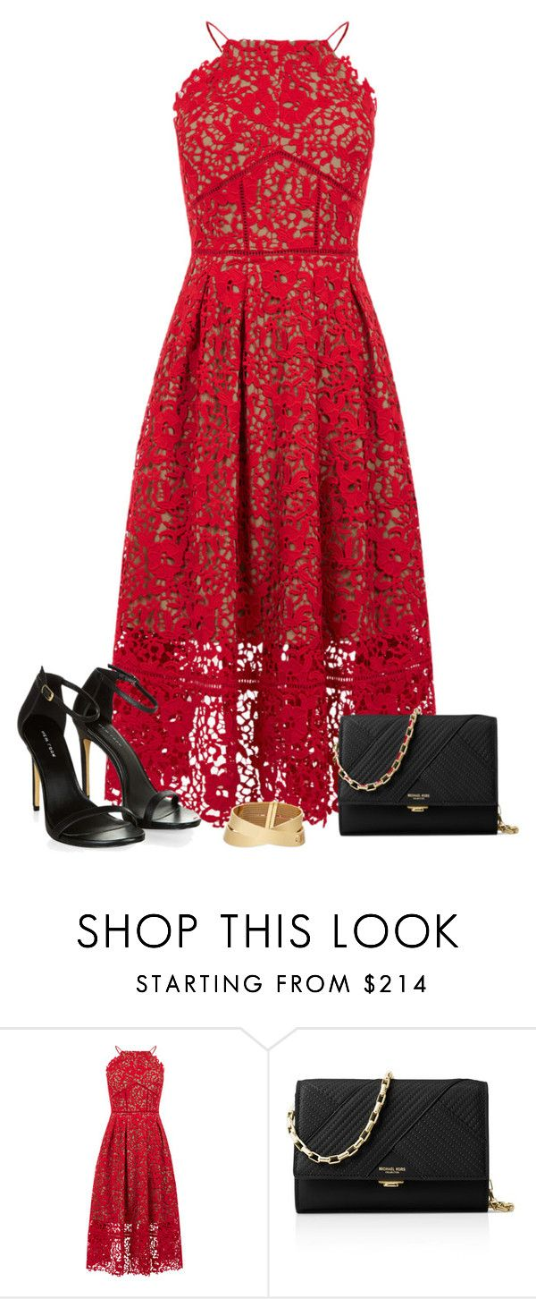 """09/24 II"" by marianamenes19 ❤ liked on Polyvore featuring Warehouse, Michael Kors, DateNight, black, date, Dinner and reddress"