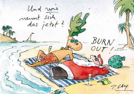 Peter Gaymann Postkarte Burn Out