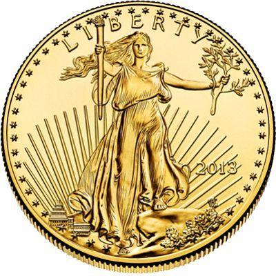 2013 - 1 oz. American Eagle Gold Bullion Coin - obverse side