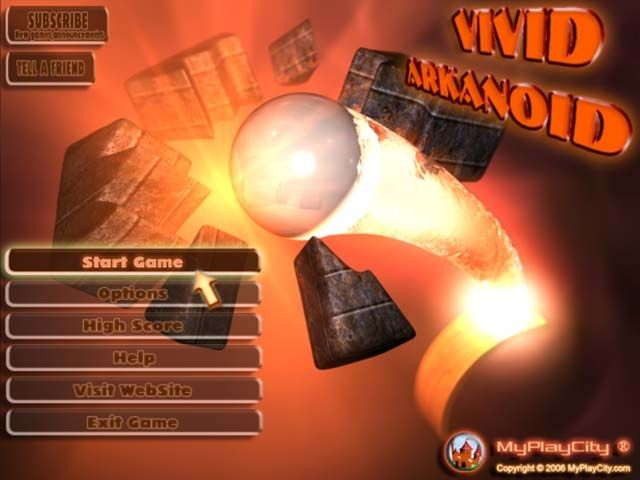 Vivid Arkanoid  Act as a space cleaner together with faithful Bubble and destroy boxes fell out from a space freighter after a great smash! - See more at: http://playfreegames24.com/game/vivid-arkanoid/#sthash.USa1H3Sd.dpuf