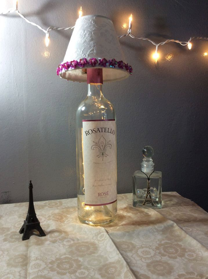 Wine Bottle Lamp by DarlingDesignsbyMJ on Etsy