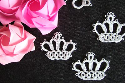 tatted crown #tatting #tat