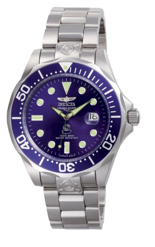 Invicta Pro Diver 3045, un reloj que se distingue por su carátula y bisel en color azul.