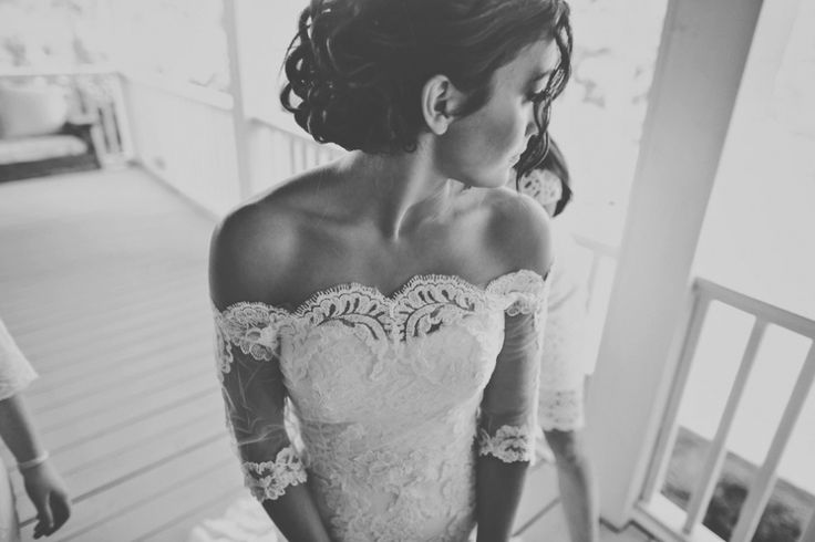 Front porch farms wedding Lace wedding dress Lace wedding sleeves tealephotography.net