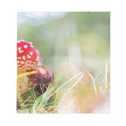 Amanita muscaria notepad - home decor design art diy cyo custom