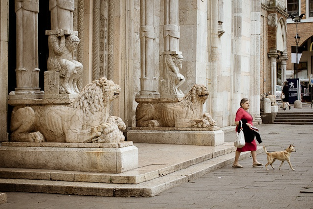 """Leaving Duomo di Ferrara"" - Outside Cattedrale di San Giorgio by @Asgeir Pedersen, via Flickr"