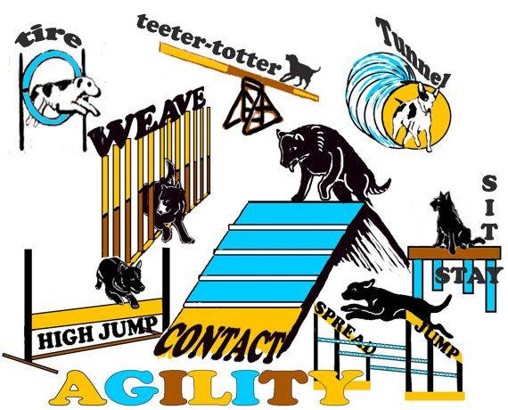 Dog Agility Fabric by KathysCraftShop on Etsy