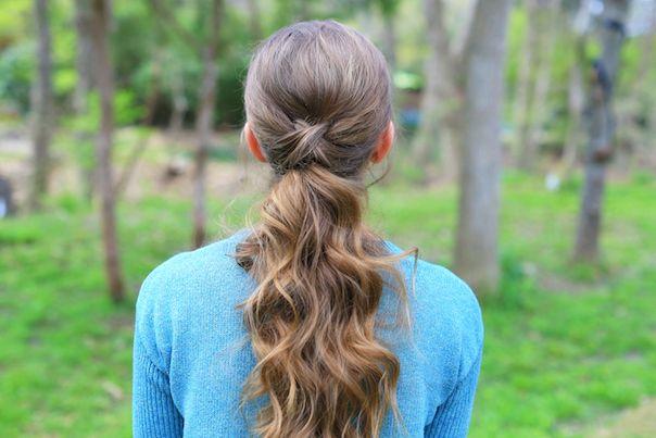 Criss Cross Ponytail | Cute Girls Hairstyles