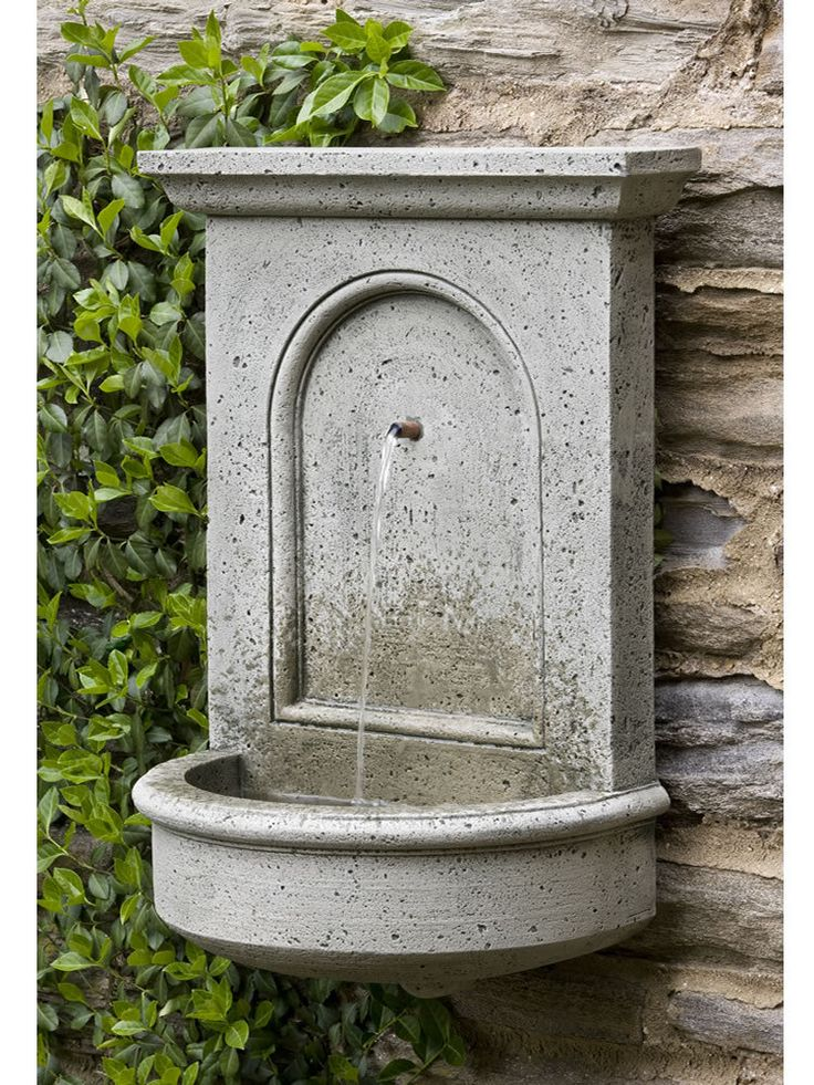 17 best images about wall fountain on pinterest wall for Outdoor patio fountains