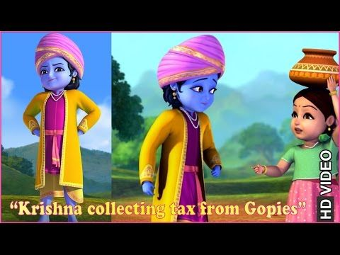 Krishna collecting tax from Gopies | Clip | English - YouTube