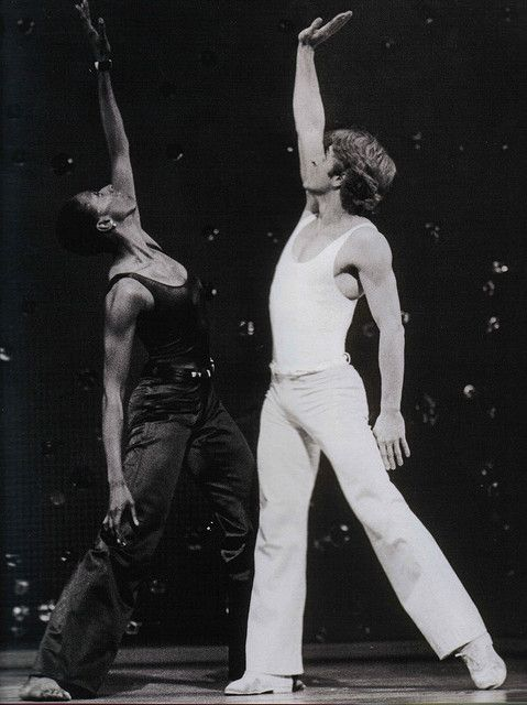 "Judith Jamison and Mikhail Baryshnikov, performing ""Pas de Duke"" (1976)"