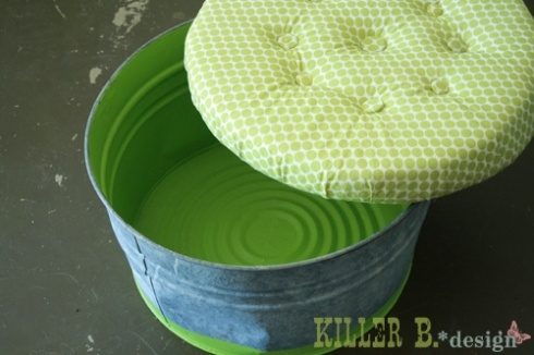 Bucket storage ottoman tutorial