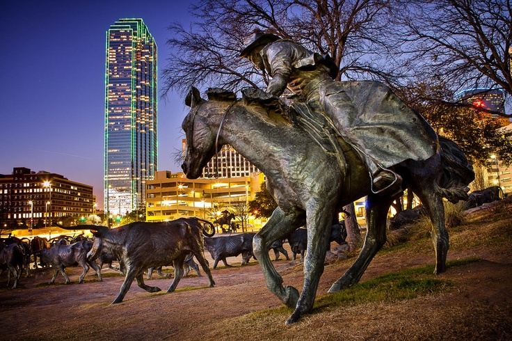 Dallas, TX, sculpture of cattle drive: Texas Usa, Dupui Siteweb, Dallas Texas, Travel Maps, Dupui Www Mathieudupui Com, Usa Photo, Mathieu Dupuis, Skyline Dallas, Www Mathieudupuis Com