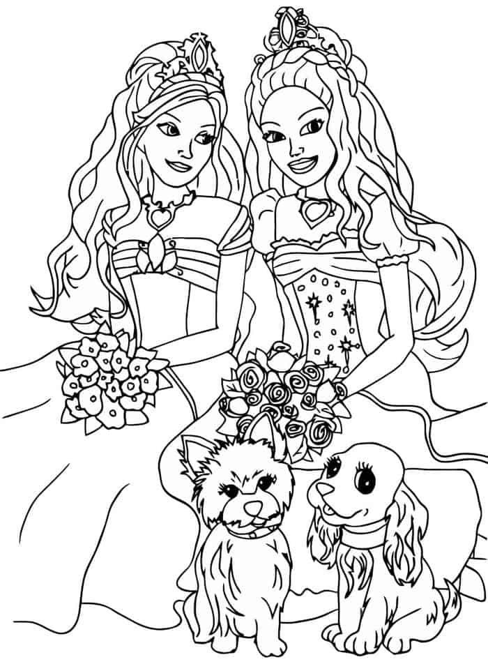 Coloring Pages Barbie Fashion Fairytale Barbie Coloring Pages Princess Coloring Pages Cute Coloring Pages