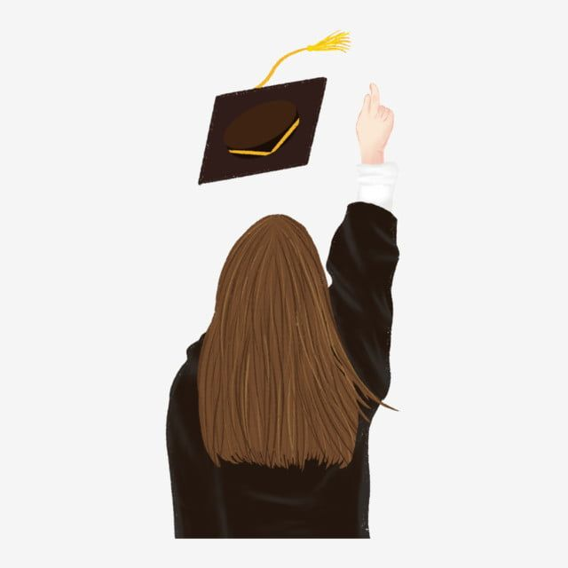 مادة شفافة فتاة التخرج مرة أخرى لطيف العنصر البشري Png و Psd Graduation Girl Graduation Art Graduation Pictures
