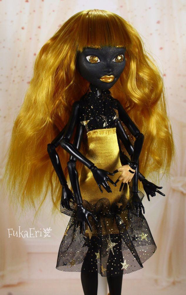Monster High Custom Repaint Art doll OOAK Wydowna Spider #MonsterHigh #DollswithClothingAccessories