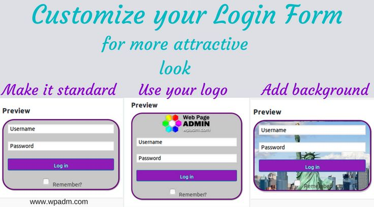 Your site needs a cool #login_form? Install #Custom_Login_Form, that will allow you to design the #login with the borders, shadows, colors, backgrounds, transparency and dimensions you like best! Add your logo or create login without password! https://wordpress.org/plugins/login-form/ #admin_login #captcha #wp_login #WordPress_login #custom_logo #registration_form #customer_login #user_login #user_login_form #wp_admin