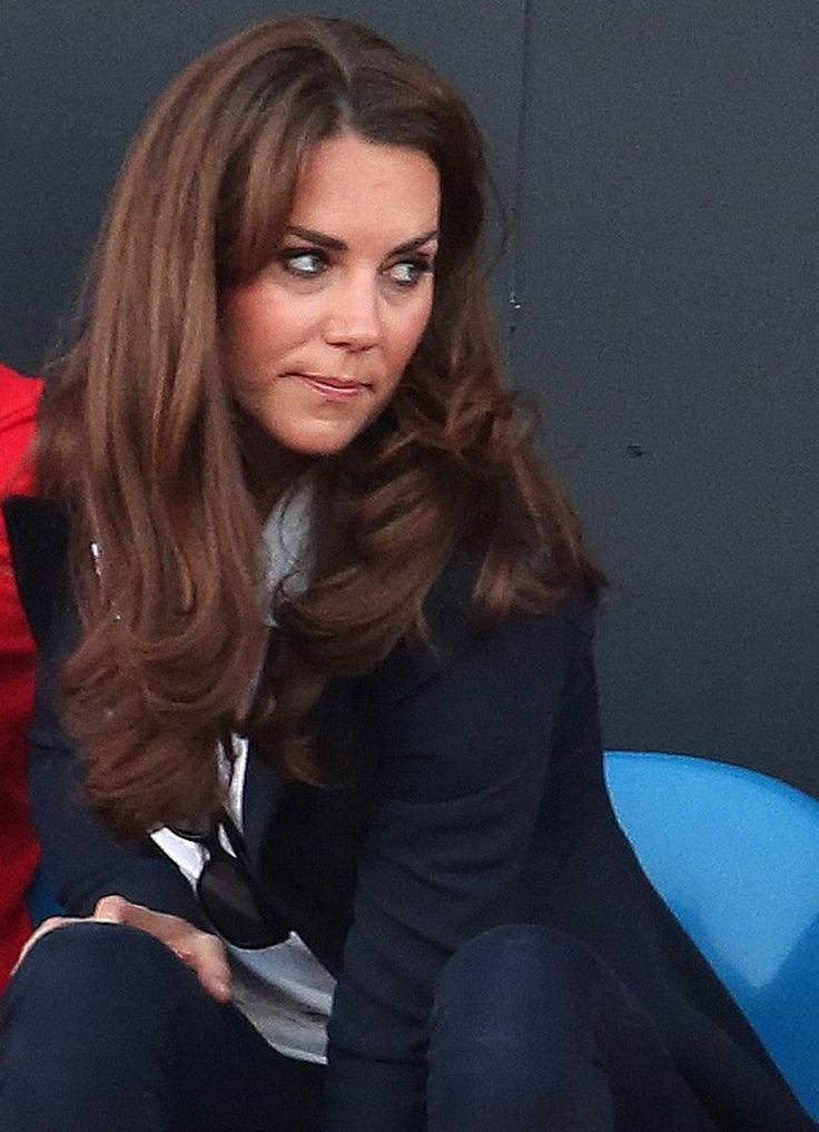 Kate, Duchess of Cambridge watching supporting Team GB hockey during London Olympics. August 8, 2012.