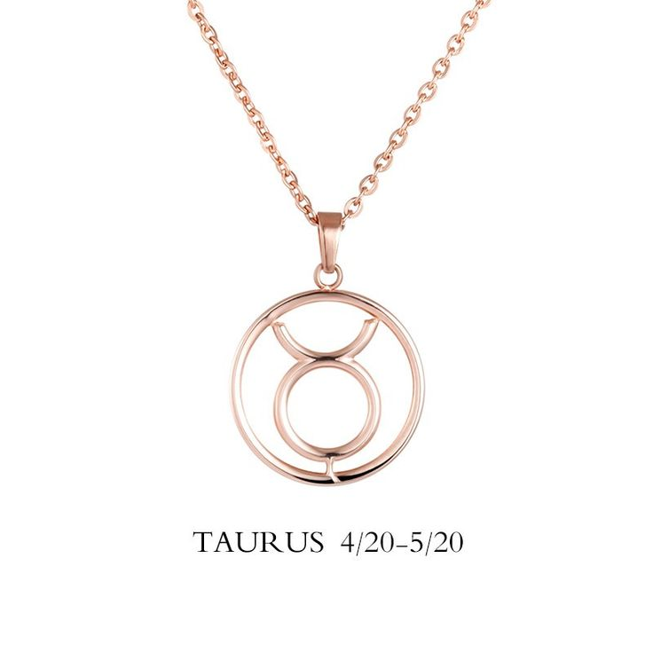 horoscope product silver taurus necklace things sterling
