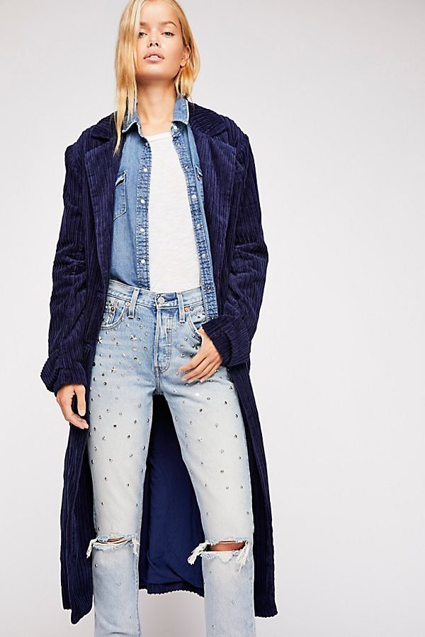 34688ee02ab79d Abbey Road Duster - Long Line Navy Corduroy Duster Coat Abbey Road Duster  Navy Coat,
