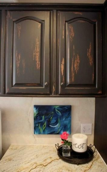Kitchen cabinets painted distressed laundry rooms 34 ideas ...