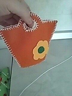 Sacchetto borsetta in feltro