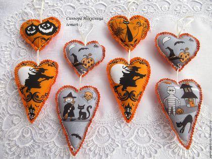Подарки на Хэллоуин ручной работы. Ярмарка Мастеров - ручная работа. Купить Интерьерная подвеска гирлянда Ведьмочки, коты и тыквы. Handmade.
