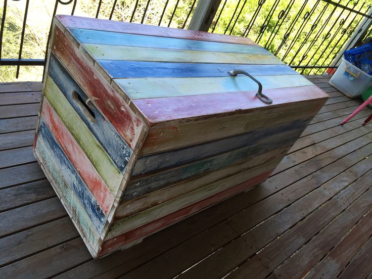 Great wooden trunk made by Shane