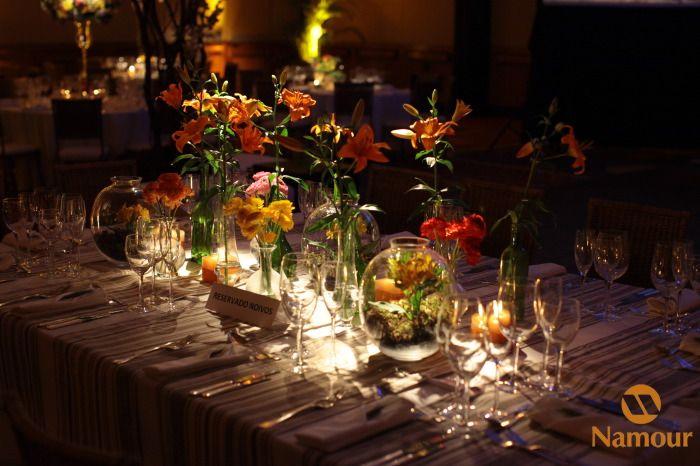 decoração amarelo e laranja  casamento  decoração e idéias