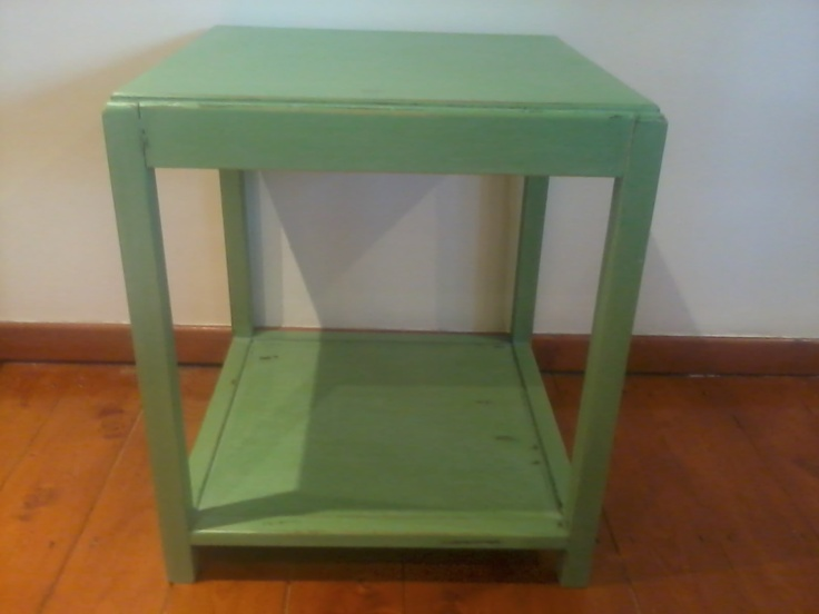 green distressed table