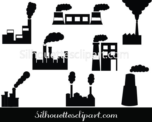 Factory Silhouette Vector Free Download