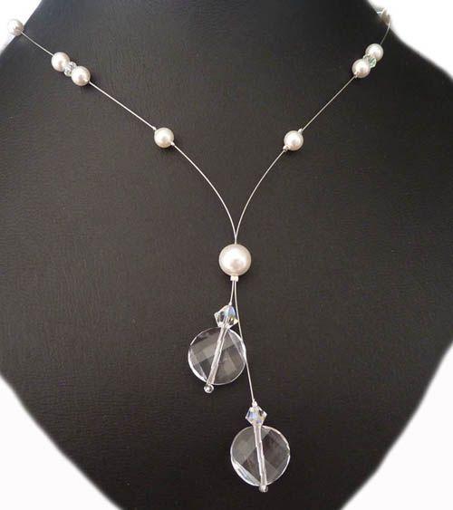 Y-Collier Perlen Brautschmuck Design