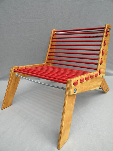 Rubber Hose Chair - click for step-by-step instructions on how to Do It Yourself, you shouldn't buy it, you should build it!
