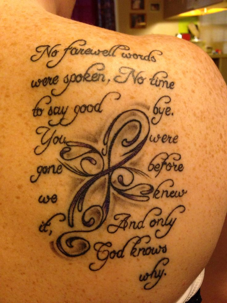 """First tattoo for my mama that I lost on 1-10-2014. """"No farewell words were spoken, no time to say goodbye; you were gone before we knew it, and only God knows why"""" This quote is very dear to my heart ❤️❤️"""
